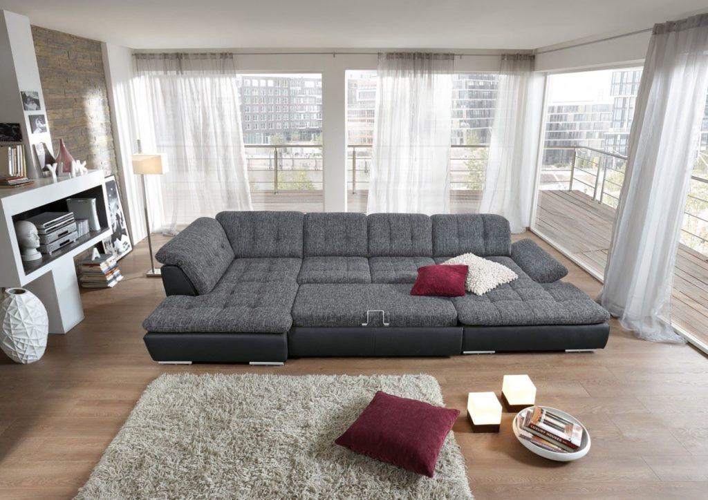 Большой модульный диван с раскладным механизмом
