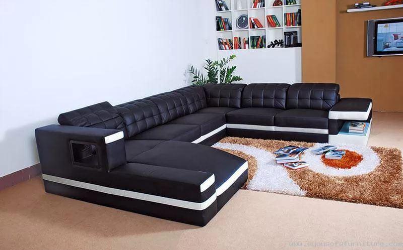 Большой диван в интерьере (2)