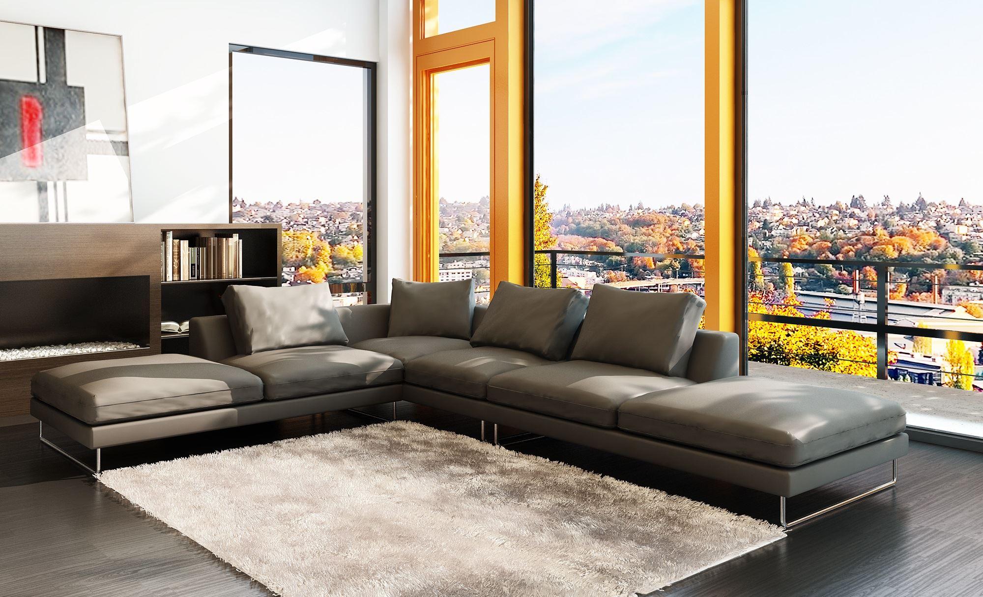 Большой диван в интерьере (26)