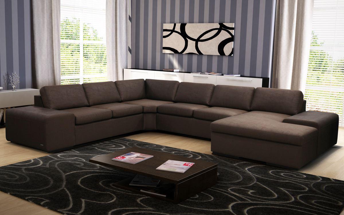 Большой диван в интерьере (32)