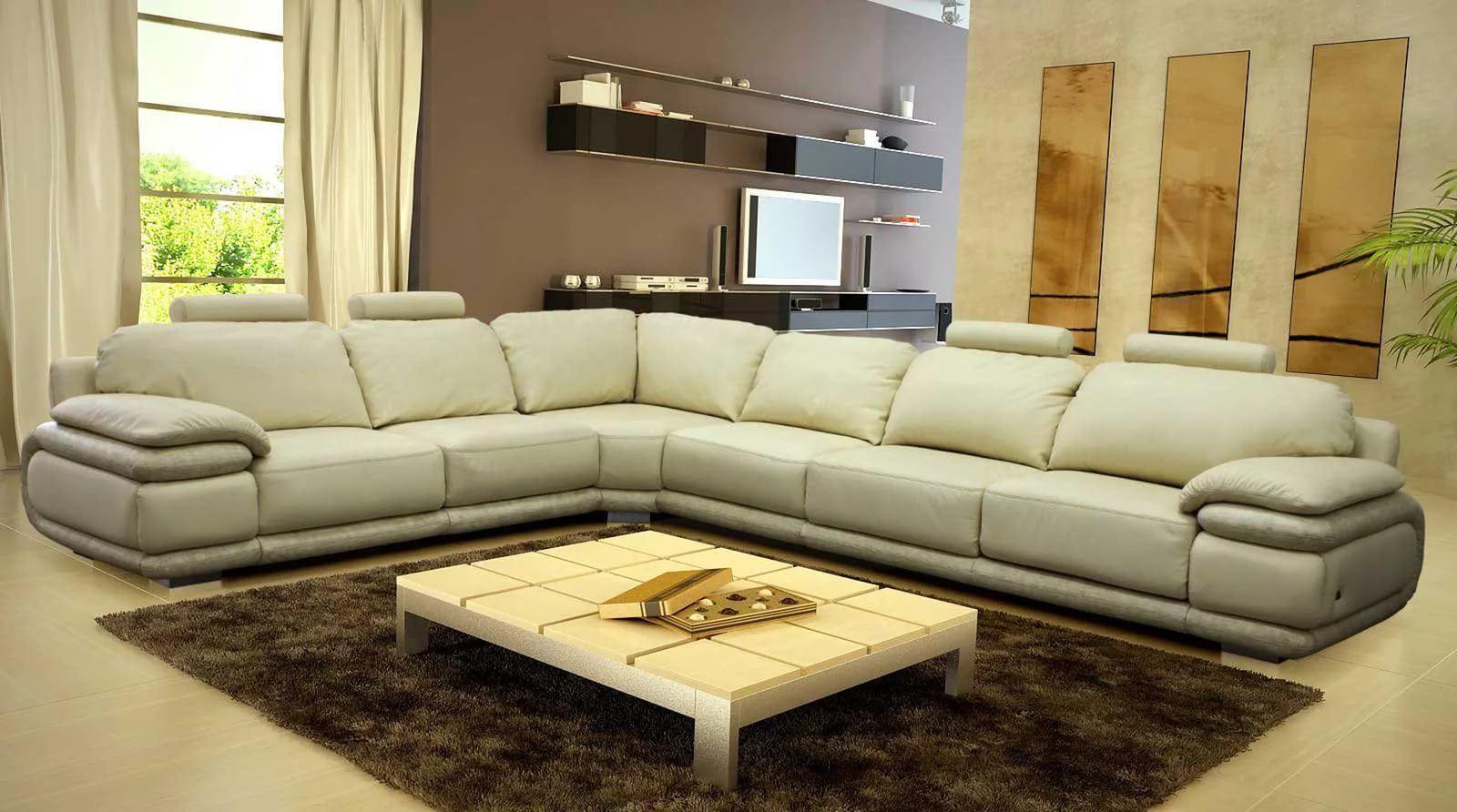 Большой диван в интерьере (46)