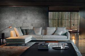 Большой диван в интерьере