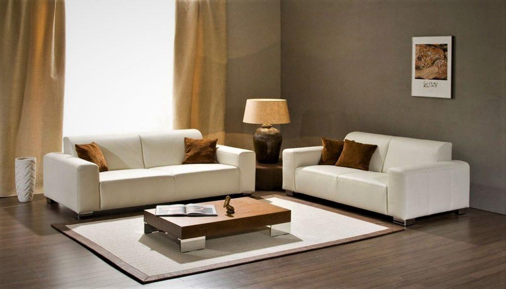 Белый диван - фото