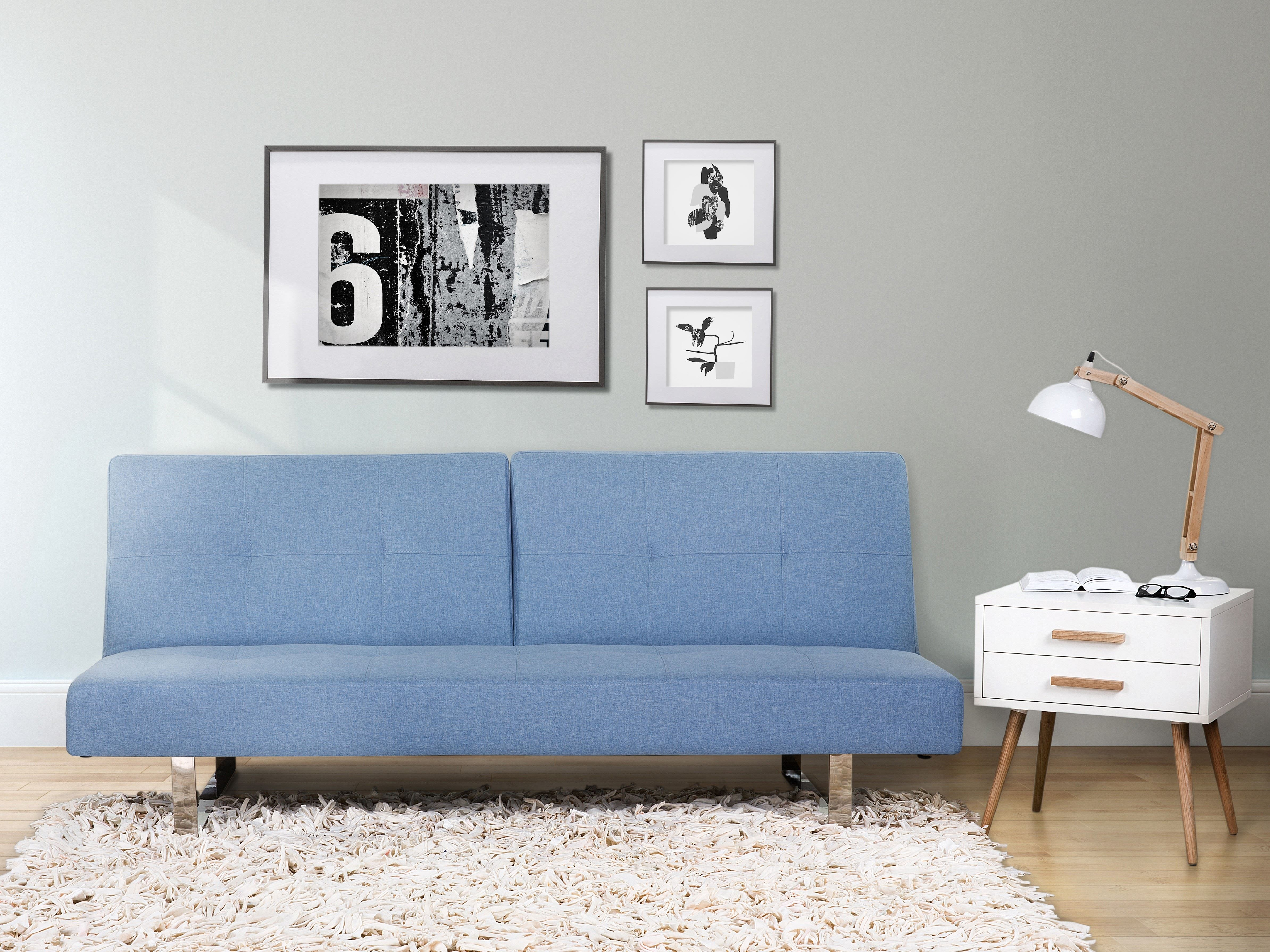 Диван голубого цвета (10)