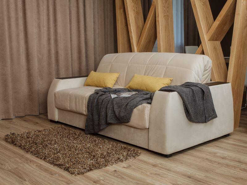 Фото ортопедического дивана в интерьере в собранном виде