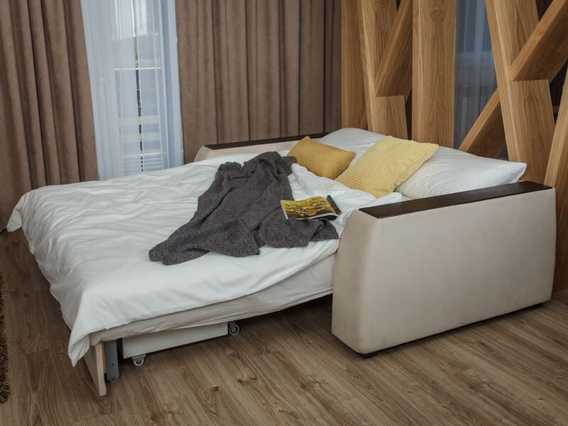 Фото разложенного ортопедического дивана