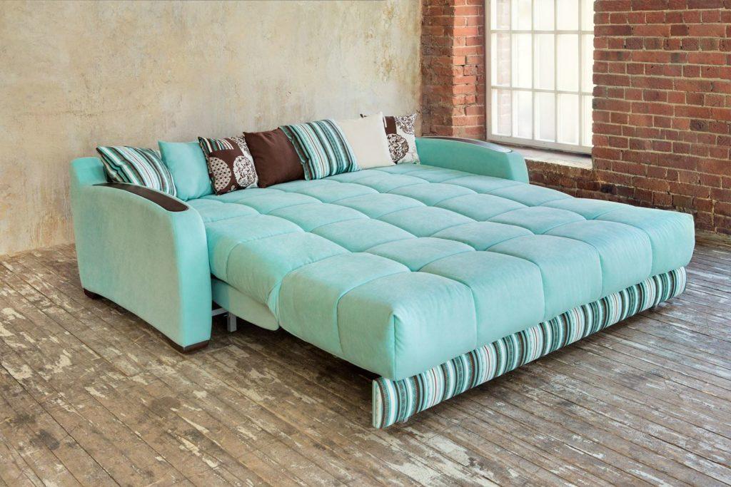 Большой двухспальный диван-кровать с ортопедическим матрасом