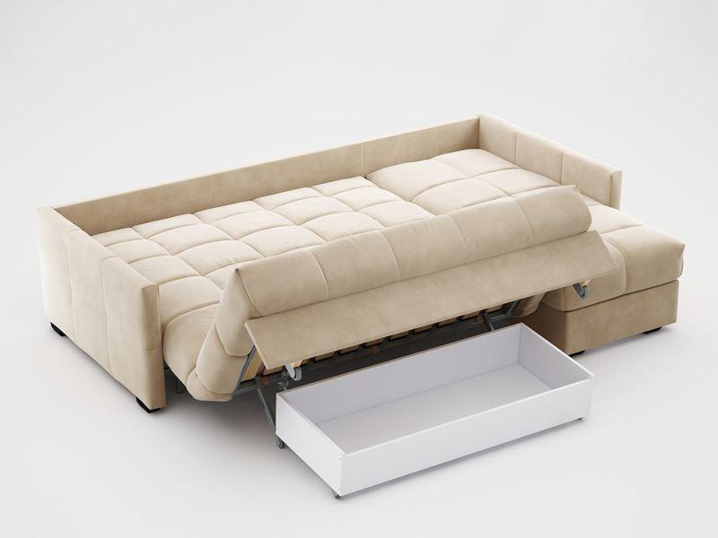 Фото раскладного дивана-кровати с ортопедическим матрасом