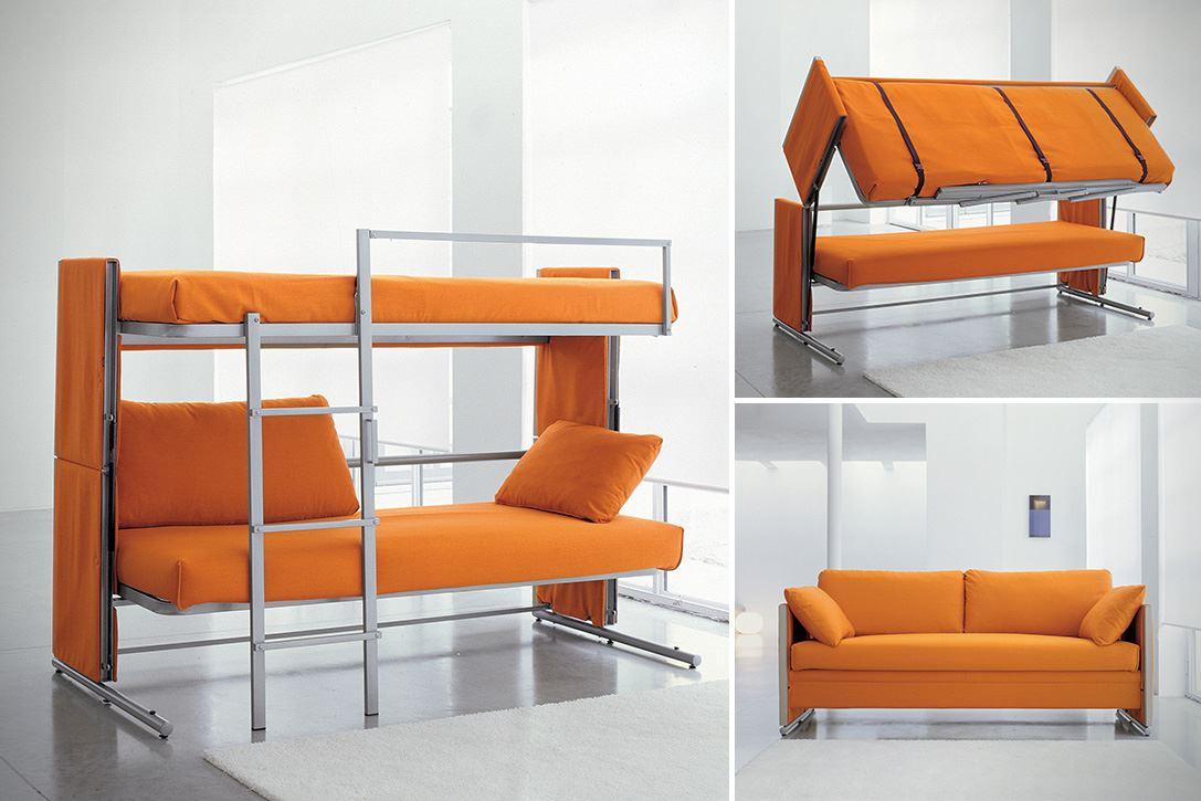 диван трансформер в двухъярусную кровать виды и преимущества