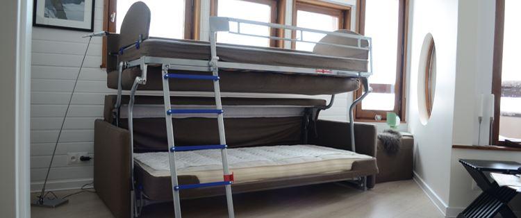 Диван раскладывающийся в двухъярусную кровать