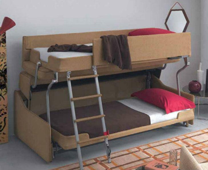 Диван трансформер в двухъярусную кровать (20)
