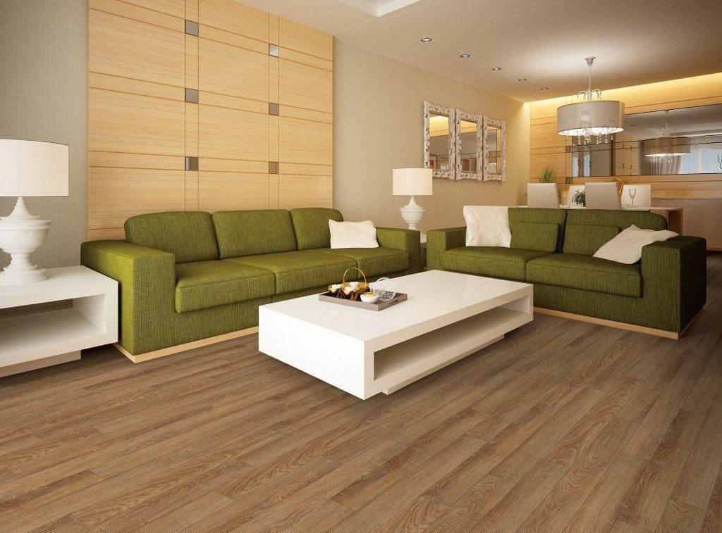 Два зеленых дивана в гостиной