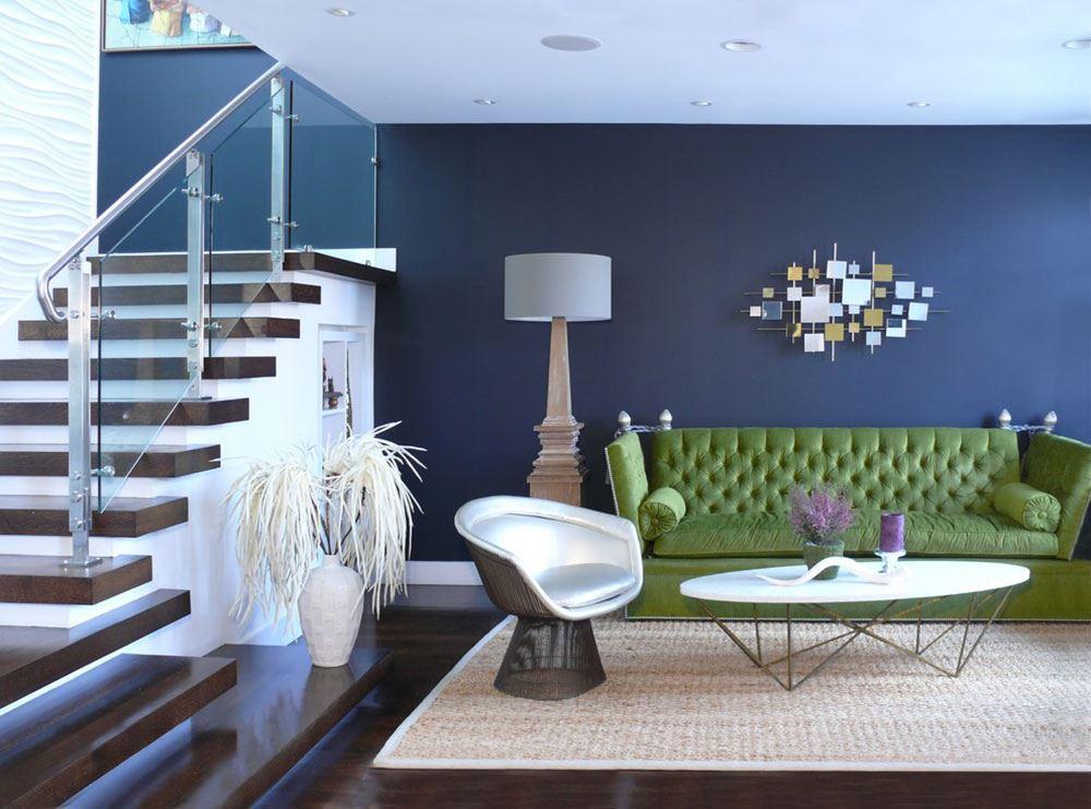 Фото зеленого дивана в классическом стиле