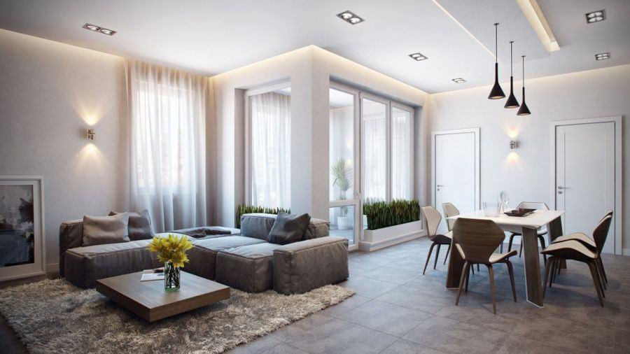 Интересный способ размещения дивана в интерьере (12)