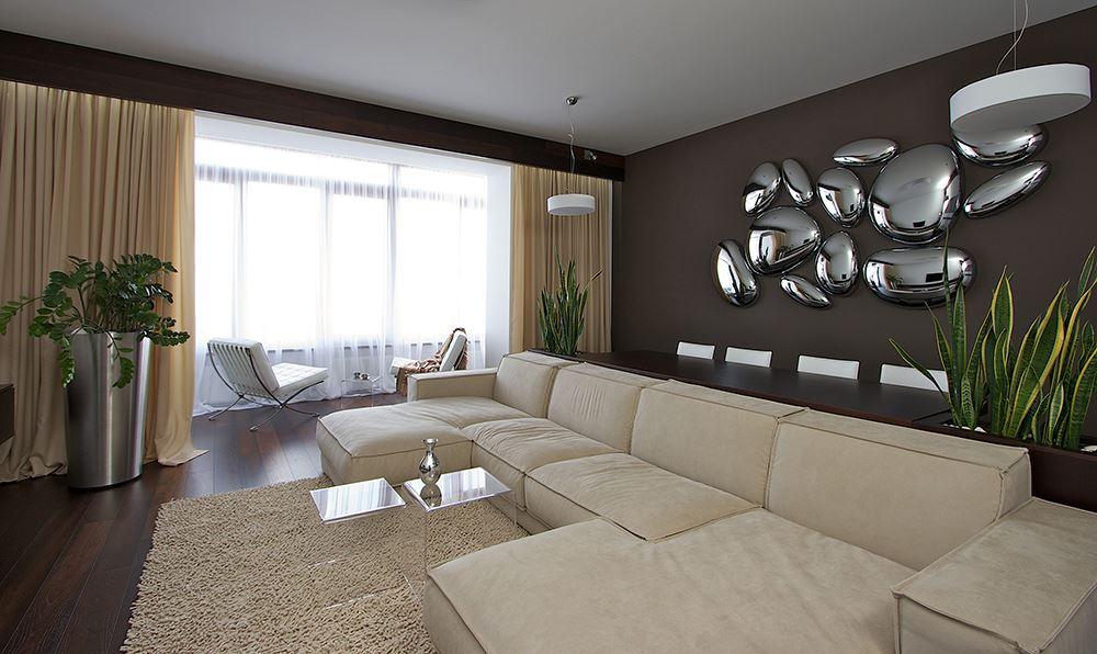 Интересный способ размещения дивана в интерьере (6)