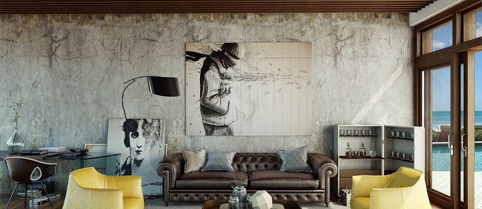 Интересный способ размещения дивана в интерьере (7)