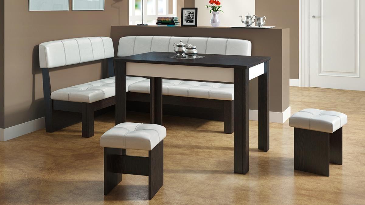 Кожаный диван в интерьере кухни (11)