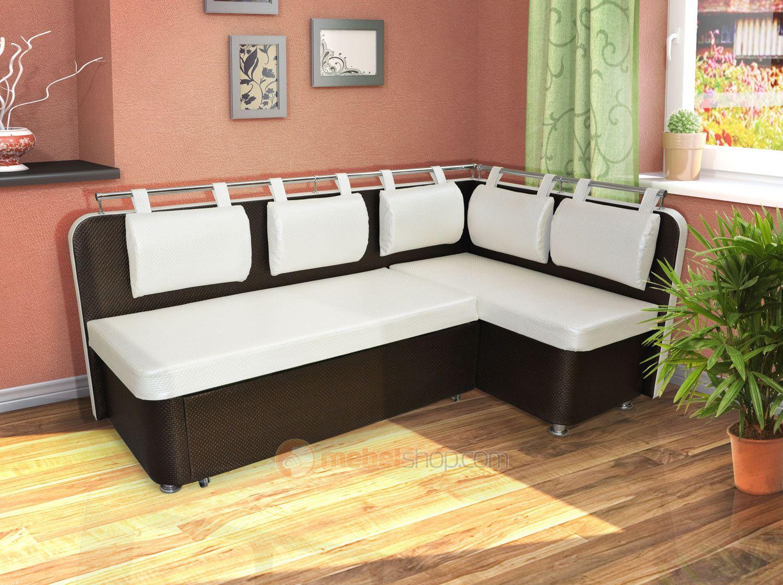 Кожаный диван в интерьере кухни (18)