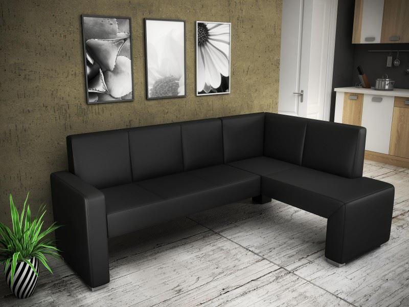 Кожаный диван в интерьере кухни (23)