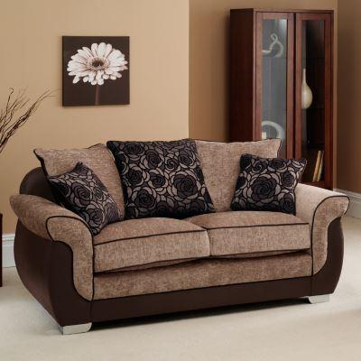 Коричневый диван в интерьере (16)