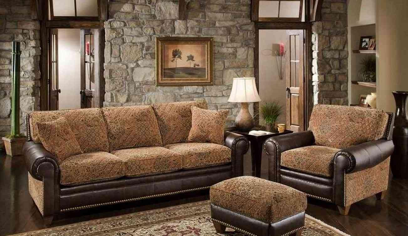 Коричневый диван в интерьере (19)