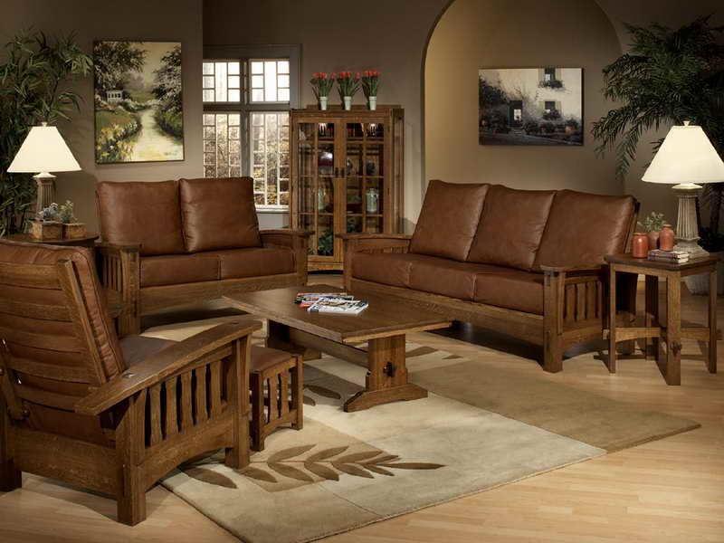 Коричневый диван в интерьере (4)