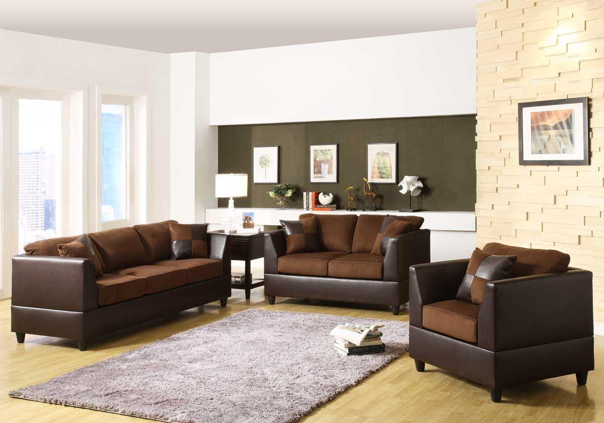 Коричневый диван в интерьере (41)