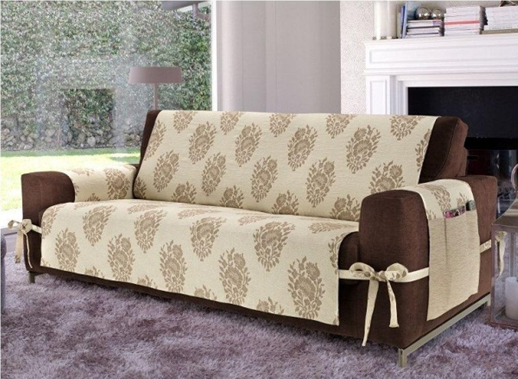 Коричневый диван в интерьере (42)
