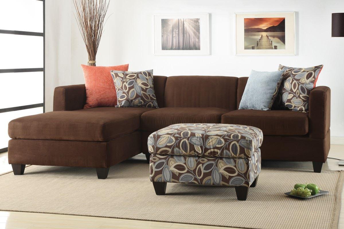 Коричневый диван в интерьере (54)