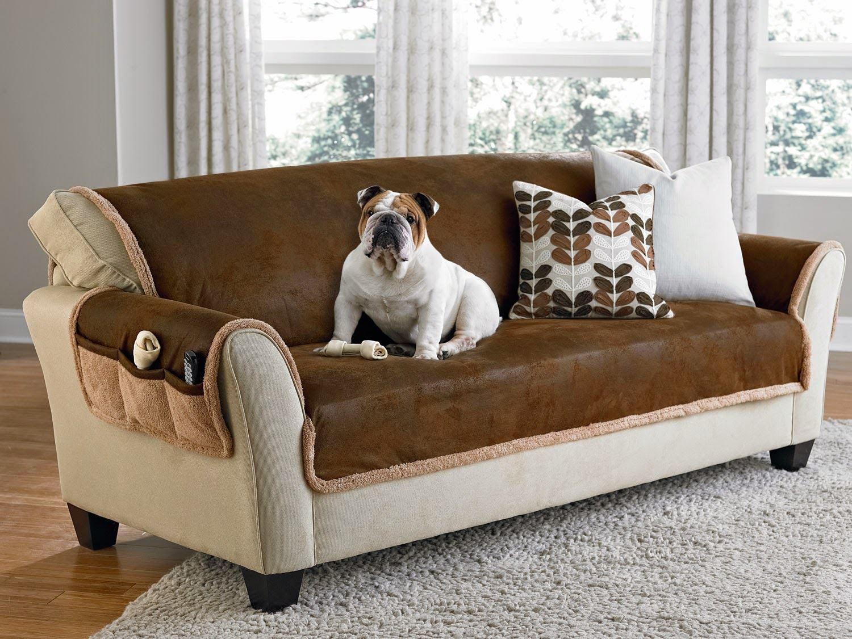 Коричневый диван в интерьере (59)