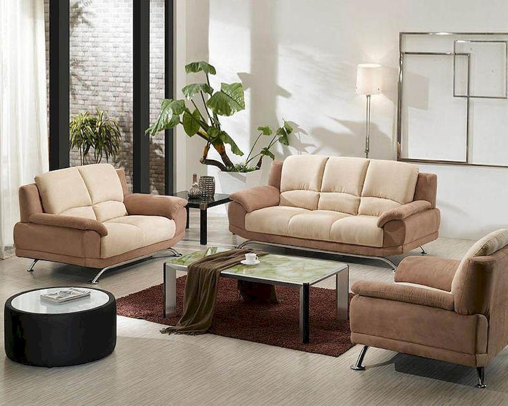 Коричневый диван в интерьере (65)