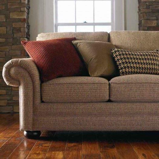 Коричневый диван в интерьере (9)