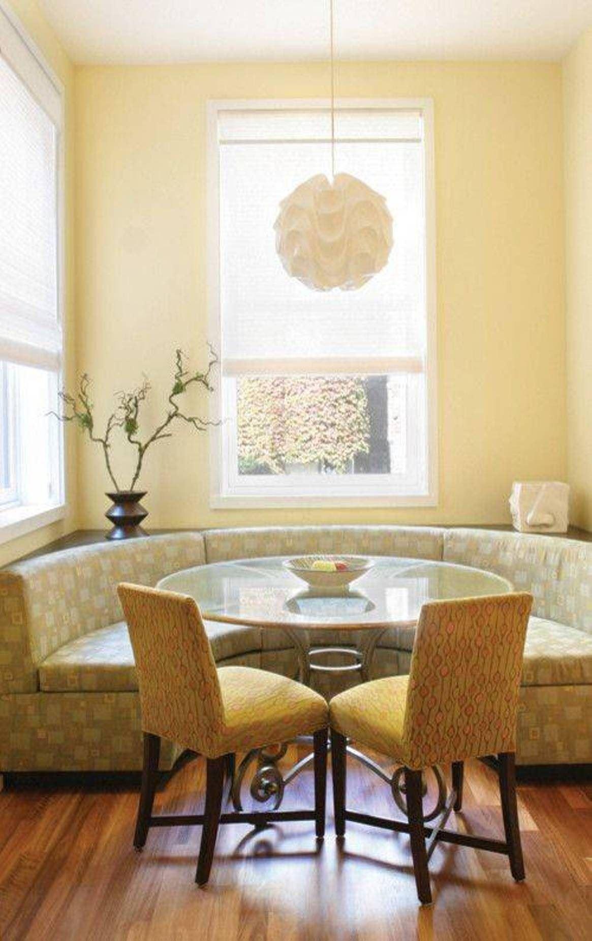 Кухонный диван в эркер (26)