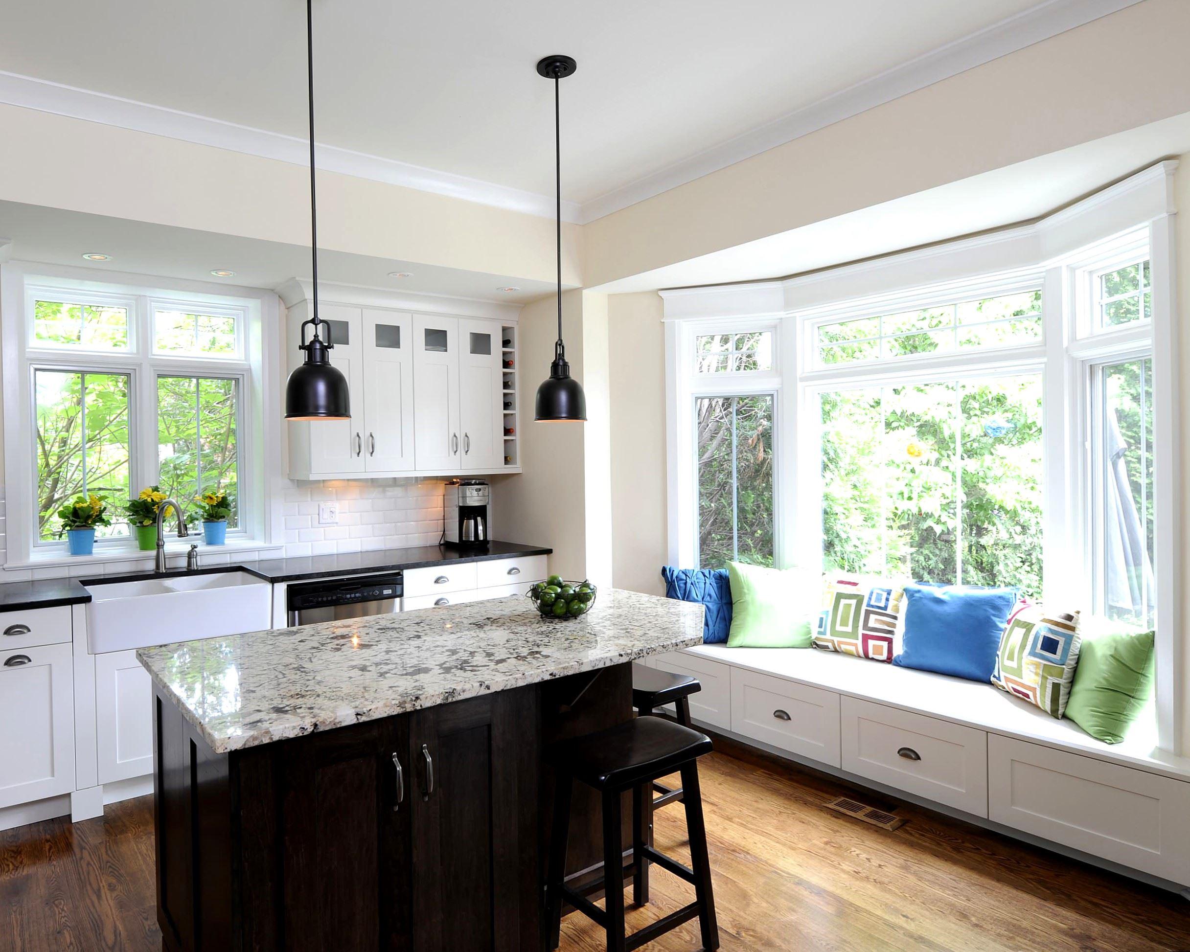 Кухонный диван в эркер (4)