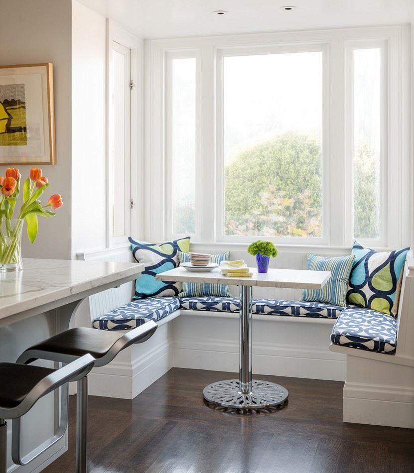 Кухонный диван в эркер (5)