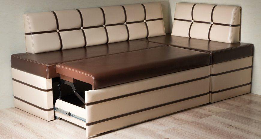 Кухонный раскладной диван с механизмом Дельфин
