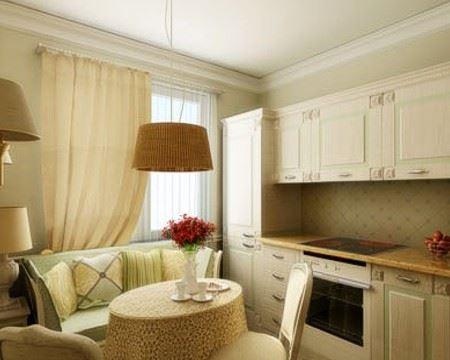 Маленький диван в интерьере кухни (13)