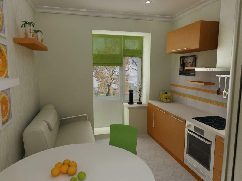 Малогабаритная кухня с компактным диванчиком