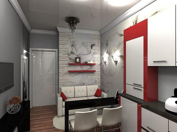 Маленький диван в интерьере кухни (5)