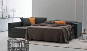 Фото модульного дивана со спальным местом в гостиной