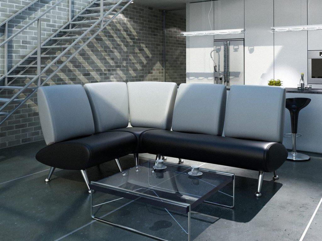 Модульный кухонный диван в интерьере