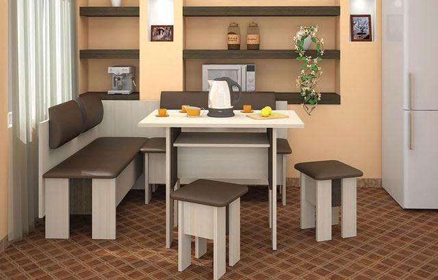 Модульная мягкая мебель для кухни
