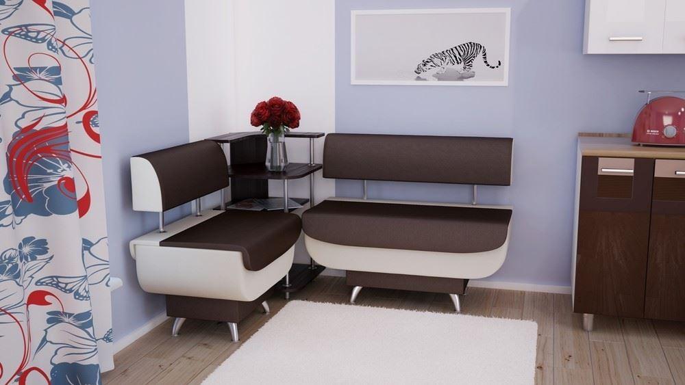 Угловой модульный диван на кухне