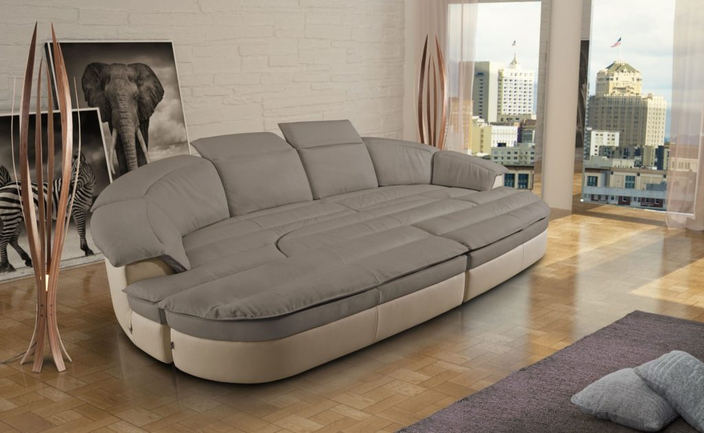 Модульный полукруглый диван со спальным местом