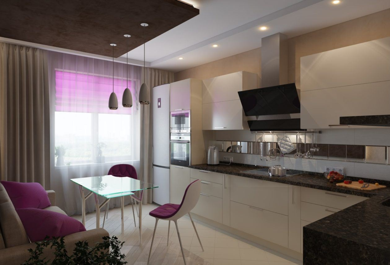 Размещение дивана на кухне (31)