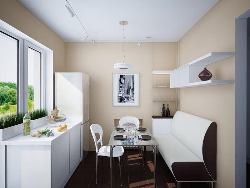 Размещение дивана на кухне (5)