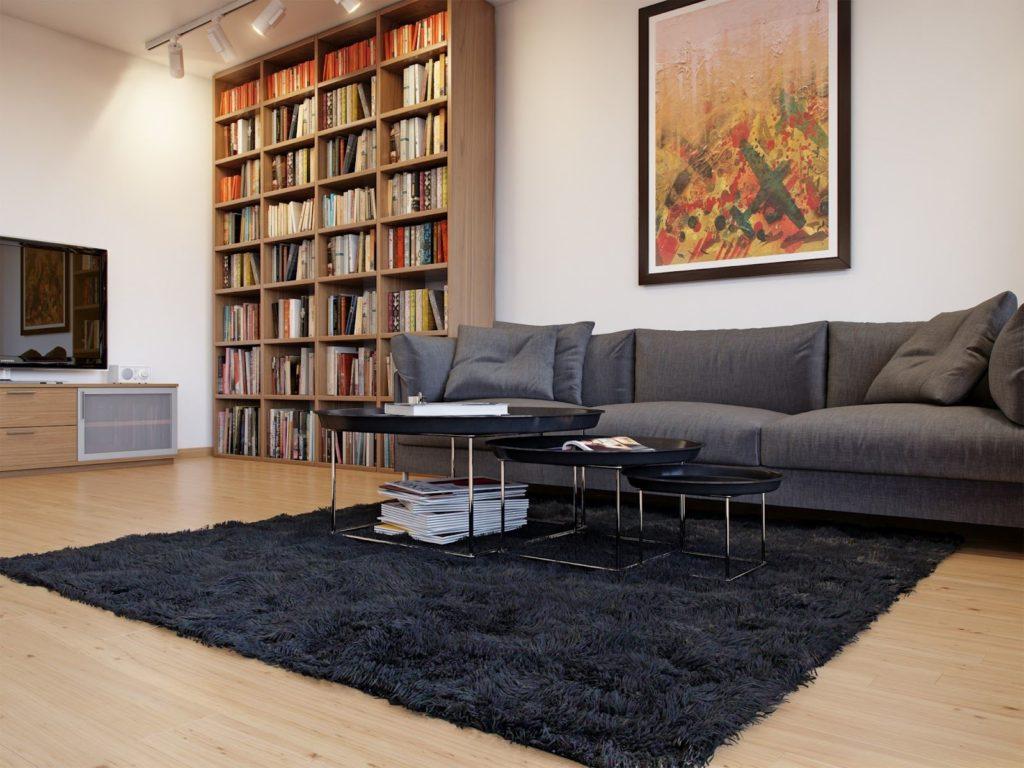 Серый мягкий диван