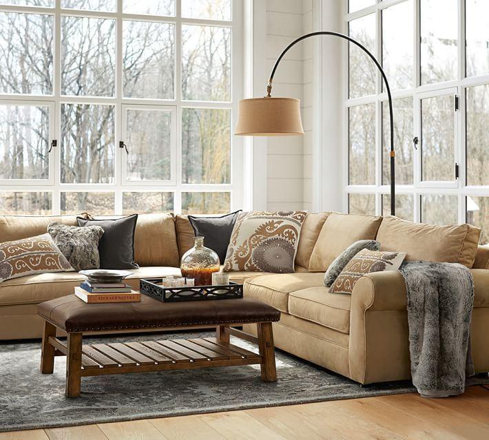 Угловой диван со спальным местом в гостиной (1)