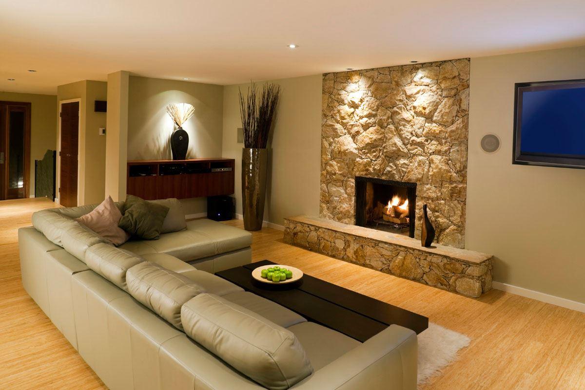 Угловой диван со спальным местом в гостиной (15)