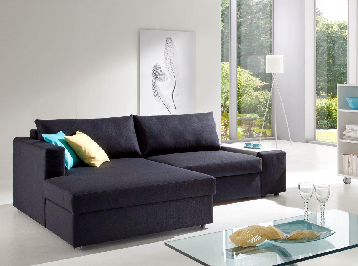 Угловой диван со спальным местом в гостиной (17)